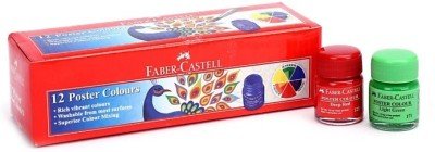 Faber-Castell 12 Poster Colours(Set of 10, Multicolor)