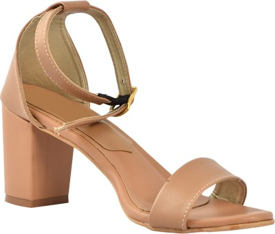Kozee Fashion Women Beige Heels