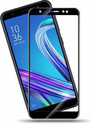 Buynow Edge To Edge Tempered Glass for Asus Zenfone Max M1 (9H Full Glue, 6D Glass, Black)(Pack of 1)