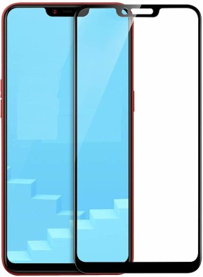Buynow Edge To Edge Tempered Glass for Asus Zenfone Max M2 (9H Full Glue, 6D Glass, Black)(Pack of 1)