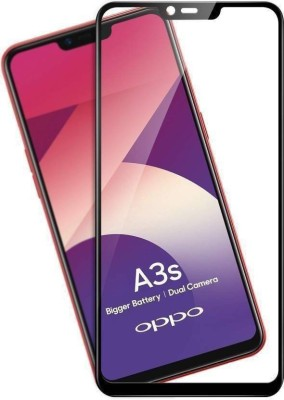 Buynow Edge To Edge Tempered Glass for Oppo A3s (9H Full Glue, 6D Glass, Black)(Pack of 1)
