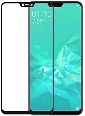 Buynow Edge To Edge Tempered Glass for Realme 2 (9H Full Glue, 6D Glass, Black)(Pack of 1)