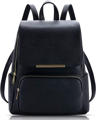 RDF Casual College Backpack Bag For Women And Girls 7 L Backpack(Black)