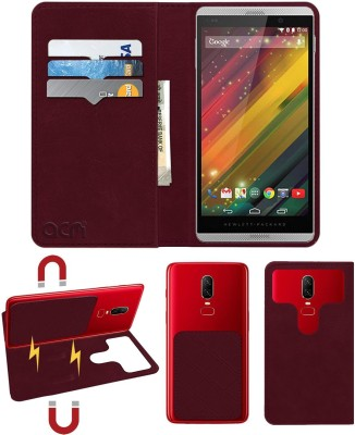 ACM Flip Cover for Hp Slate 6 Voicetab 2(Maroon, Cases with Holder)