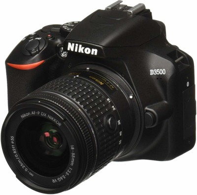 Nikon D5600 (With Basic Accessory Kit) DSLR Camera Body with Single Lens: AF-P DX Nikkor 18-55 MM F/3.5-5.6G VR (16 GB SD Card)(Black)