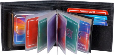 Macberry Men Casual Black Artificial Leather Wallet(10 Card Slots)