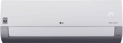 View LG 1 Ton 3 Star Split Inverter AC  - White, Grey(KS-Q12MWXD, Copper Condenser) Price Online(LG)