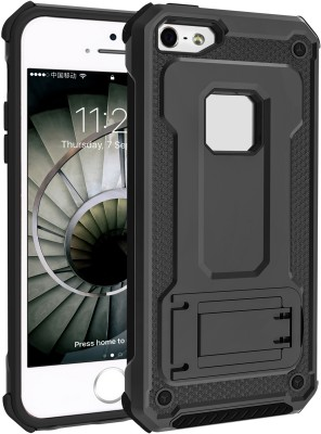 Hoko Back Cover for Apple iPhone 5, Apple iPhone 5s, Apple iPhone SE(Black, Dual Protection)