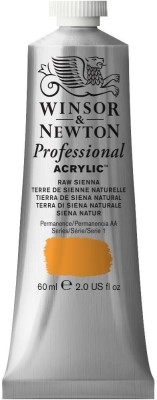 Winsor & Newton Professional Acrylic Colour - Tube of 60 ML - Raw Sienna (552)(Set of 1, Raw Sienna)