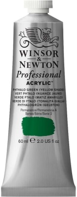 Winsor & Newton Professional Acrylic Colour - Tube of 60 ML - Phthalo Green Yellow Shade (521)(Set of 1, Phthalo Green Yellow Shade)