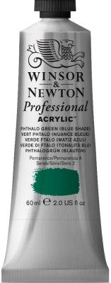 Winsor & Newton Professional Acrylic Colour - Tube of 60 ML - Phthalo Green Blue Shade (522)(Set of 1, Phthalo Green Blue Shade)