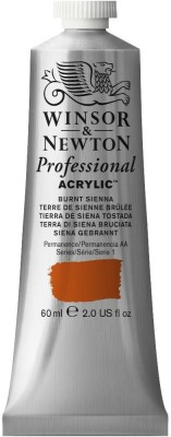 Winsor & Newton Professional Acrylic Colour - Tube of 60 ML - Burnt Sienna (074)(Set of 1, Burnt Sienna)