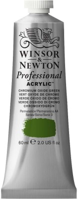 Winsor & Newton Professional Acrylic Colour - Tube of 60 ML - Chromium Oxide Green (162)(Set of 1, Chromium Oxide Green)