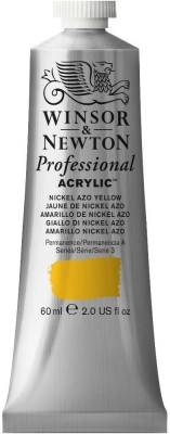 Winsor & Newton Professional Acrylic Colour - Tube of 60 ML - Nickel Azo Yellow (439)(Set of 1, Nickel Azo Yellow)