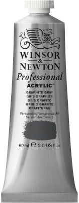 Winsor & Newton Professional Acrylic Colour - Tube of 60 ML - Graphite Grey (292)(Set of 1, Graphite Grey)