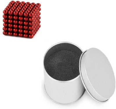 PSYCHE Red Color Magnetic Balls (3mm 216 balls) Magnetic Toys 3D Puzzle Stress Relief Educational Toys(216 Pieces)