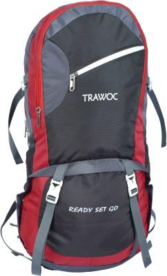 TRAWOC SHK6-RED-Trekking Bag Hiking Backpack Travel Rucksack  - 55(Red)