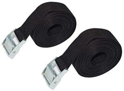 DIY Crafts 3 Feet Tie Down Lashing Ratchet Strap with Metal buckle, Black (Pack of 2 belts) Luggage Strap(Multicolor)