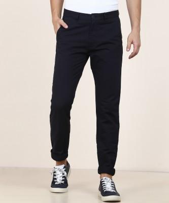 Peter England University Slim Fit Men Dark Blue Trousers