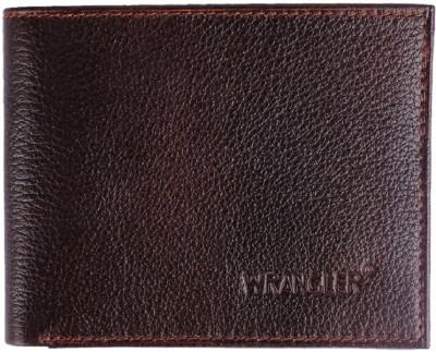 Wrangler Men Brown Genuine Leather Wallet 6 Card Slots Wrangler Wallets