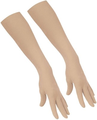 H2Y arm 50 Nylon, Cotton Arm Warmer(Beige)