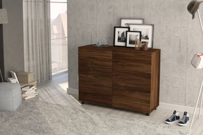Furn Central Engineered Wood Free Standing Chest of Drawers(Finish Color - Imbuia)