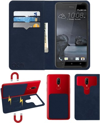 ACM Flip Cover for Htc One X9(Blue, Cases with Holder)
