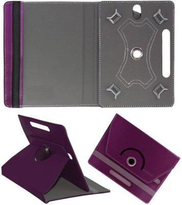 Cutesy Flip Cover for iBall Slide 6318i(Purple, Cases with Holder)