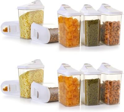 Darkline Container Set,Food Storage Container   1500 ml Plastic Grocery Container Pack of 12, White Darkline Kitchen Containers