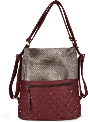 Miss CL Women Brown, Maroon Hobo at flipkart