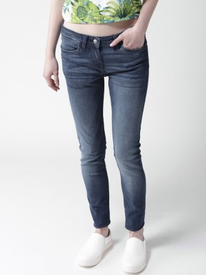 Mast & Harbour Regular Women Blue Jeans at flipkart