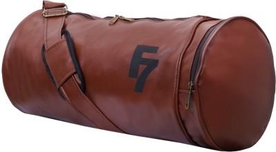 DEE MANNEQUIN Tan Leatherite duffel Duffel Without Wheels DEE MANNEQUIN Duffel Bags