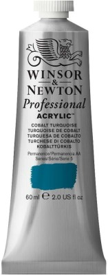 Winsor & Newton Professional Acrylic Colour - Tube of 60 ML - Cobalt Turquoise (190)(Set of 1, Cobalt Turquoise)