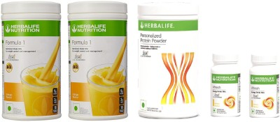Herbalife Full A Month Set For Weight Management Protein Blends(1400 g, Mango, Lemon)