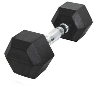 L'AVENIR 2.5kg (Single Piece) Professional HEXAGONAL Rubber coated Fixed Weight Dumbbell(2.5 kg)