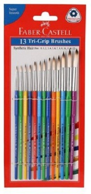 FABER CASTLE 13 Tri Grip Brushes (Round)(Set of 1, Multicolor)