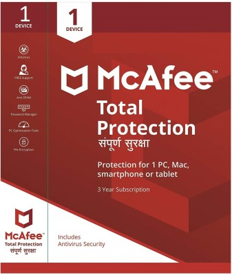 McAfee Total Security 1 User 3 Years(CD/DVD)