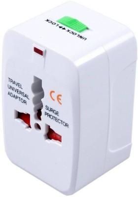AFRODIVE Travel Universal Adapter (AU EU UK US) Good Quality International Worldwide Adaptor (White) Worldwide Adaptor(White) at flipkart