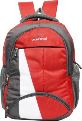 GOOD FRIENDS Casual Waterproof 21 L Laptop Backpack Red, Grey GOOD FRIENDS Backpacks
