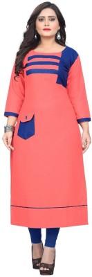 Textile Fab Festive & Party Self Design Women Kurti(Maroon)