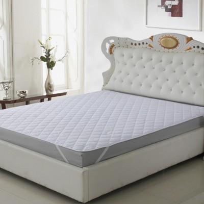 LA VERNE Elastic Strap King Size Waterproof Mattress Protector(White)