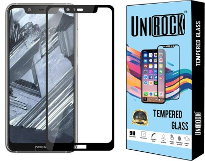 Unirock Edge To Edge Tempered Glass for Nokia 5.1 Plus(Pack of 1)