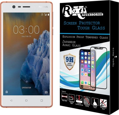 Roxel Tempered Glass Guard for Nokia 3 (Copper White, 16 GB) (2 GB RAM)(Pack of 1)