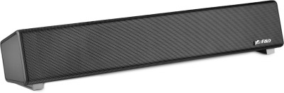 F&D E200+ 5 W Portable Bluetooth Laptop/Desktop Speaker(Black, Stereo Channel)
