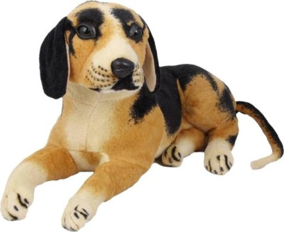 Pasanda Brown and Black Dog Soft puppy Toy   25 cm Black, Brown Pasanda Soft Toys