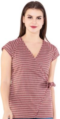 AANIA Casual Cap Sleeve Printed Women Multicolor Top