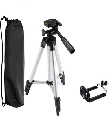 LIFEMUSIC Best Material Portable and flexible, ideal for outdoor, travel and timer shoots Built-in bubble level, making your tripod perfectly leveled Tripod, Tripod Kit(Silver, Black, Supports Up to 3000 g)