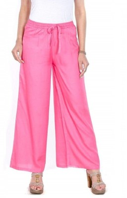 SriSaras Relaxed Women Pink Trousers