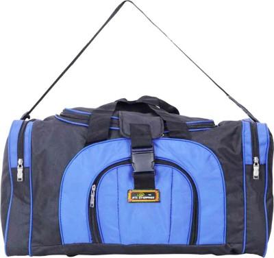 Inte Enterprises  Expandable  INTE LUGGAGE Duffel With Wheels  Strolley  Blue Inte Enterprises Duffel Bags