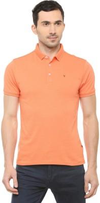 Van Heusen Solid Men Polo Neck Orange T-Shirt at flipkart